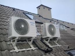 klímaszerelés tetőkonzolra